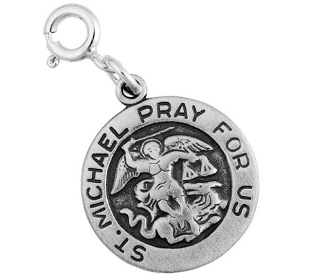 Sterling Silver St. Michael Charm