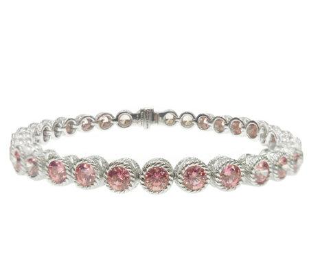 Judith Ripka Sterling 118 Facet Pink Dmq 6 3 4 Bracelet