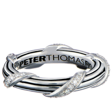 Peter Thomas Roth Sterling & Diamond Signature Band Ring