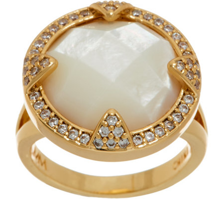 Melinda Maria Gemstone Cocktail Ring - Vanessa