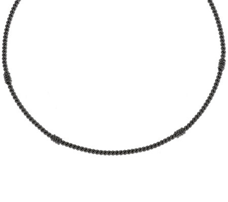 """As Is"" Judith Ripka Sterling 20"" Textured Collar Necklace"