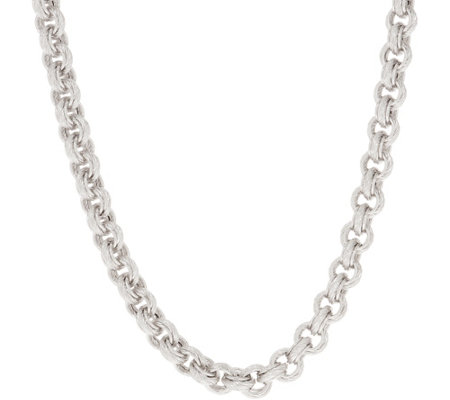 "Judith Ripka Verona Sterling 20"" Textured Necklace 79.0g"