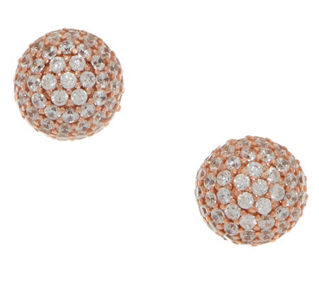 As Is Diamonique Round 1 75 Cttw Studs Sterling Or 14k Clad