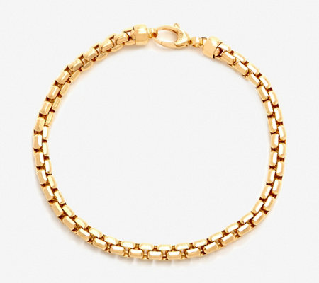 """As Is"" Italian Gold 8"" Bold Round Box Chain Bracelet, 14K 10.5g"