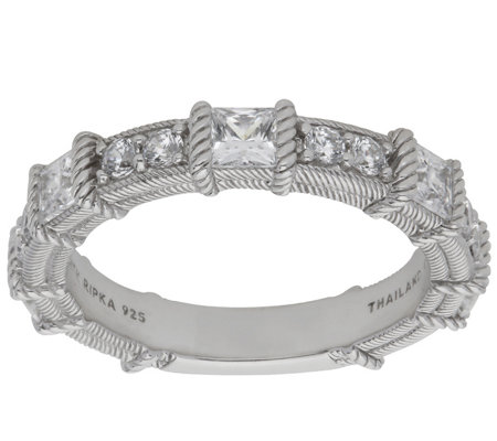 Judith Ripka Sterling 1 25 Cttw Diamonique Band Ring