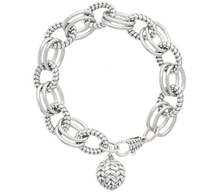 260fdb8313017 Tiffany Kay Studio Sterling Herringbone Link Bracelet — QVC.com