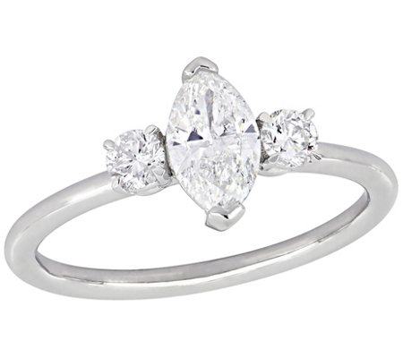 Affinity 9 10 Cttw Marquise Diamond Engagement Ring 14k