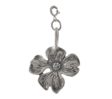 Sterling Dogwood Blossom Charm