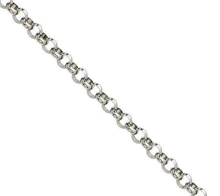 "Steel by Design 4.6mm 24"" Rolo Chain Necklace"