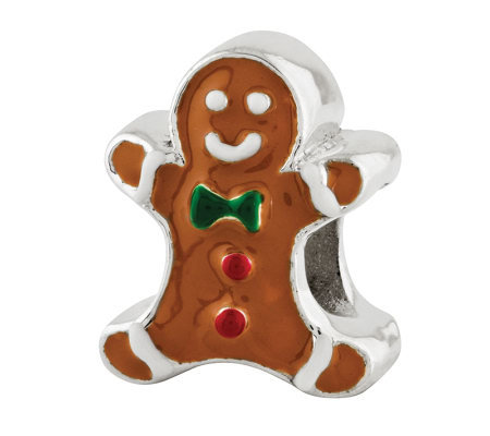 Prerogatives Sterling Gingerbread Man Bead