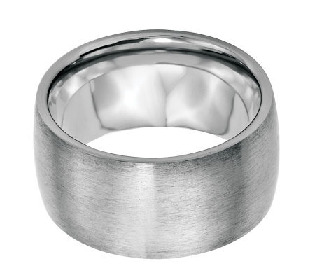 Stainless Steel 12mm Brushed Ring