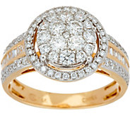 1.00 cttw Round Cluster Diamond Ring 14K Gold by Affinity - J347270