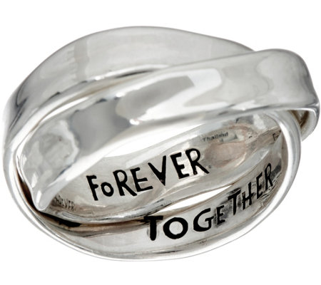 Hagit Sterling Silver Together Forever Rolling Ring