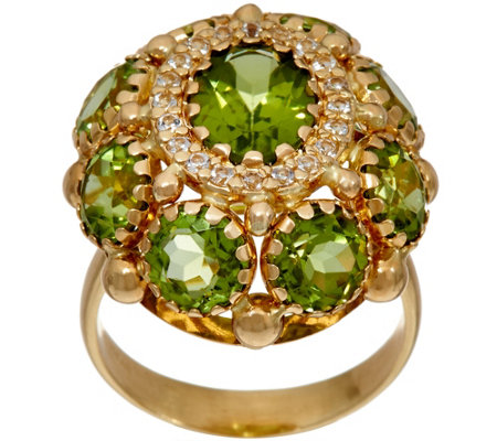 Arte d' Oro 5.80 cttw Gemstone Ring, 18K Gold