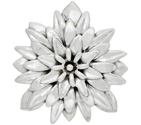 Or Paz Sterling Polished Dahlia Pin / Pendant
