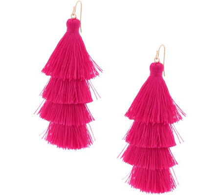 Lisbon Tiered Fringe Tassel Earrings