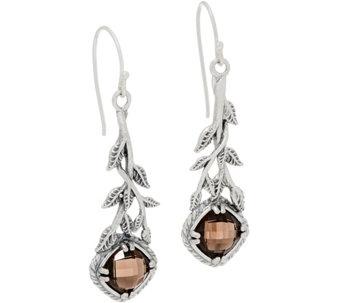 Or Paz Sterling Silver Cushion Cut Gemstone Dangle Earrings J360070