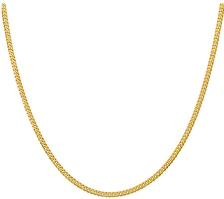"14K Gold Beveled 24"" Curb Necklace, 15.7g"