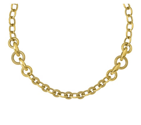 Italian Gold Round & Oval Link Status Necklace14K Gold, 19.0g