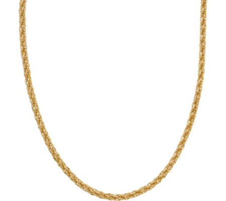 "EternaGold 14K 24"" Tuscan Rope Necklace, 5.9g"