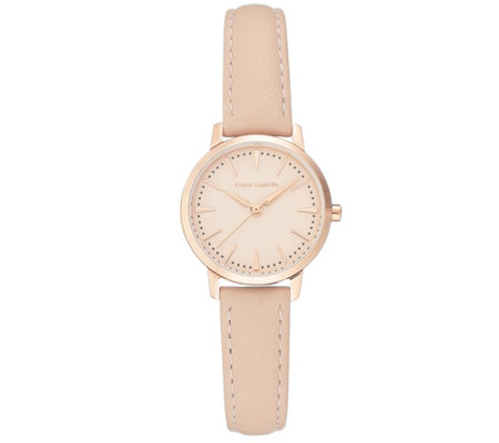 Vince Camuto Women's Rosetone & Blush Leather Strap Watch