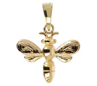 Italian Gold Bumble Bee Pendant, 14K Gold - J484670
