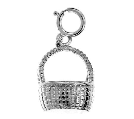 14K White Gold Nantucket Basket Charm