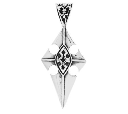 Sterling Cross with Shield Pendant