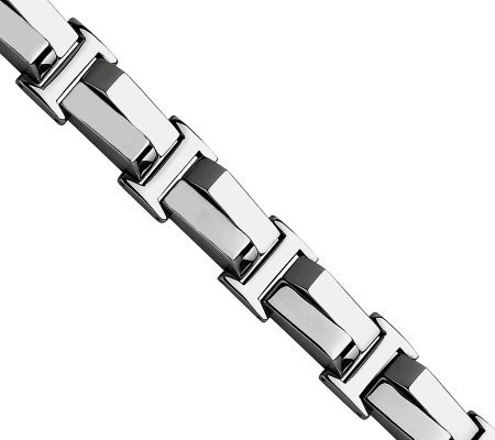 "Steel by Design Men's 8-1/4"" Polished Link Bracelet"