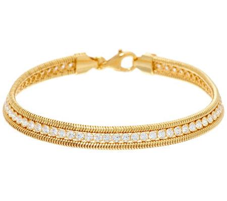 Diamonique 1 90 Cttw Tennis Bracelet Sterling Or 14k Clad