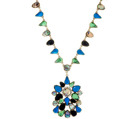 LOGO Links by Lori Goldstein Teardrop Cluster Necklace