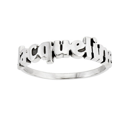 Laser-Cut Polished Name Ring, 14K