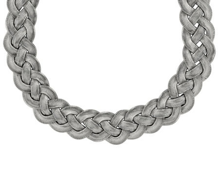"Steel by Design Polished Braided 16-1/2"" Necklace"