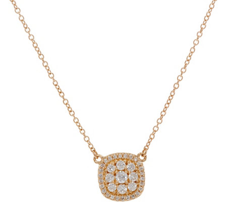 Judith Ripka 14K Gold 1/2 cttw Pave' Diamond Necklace