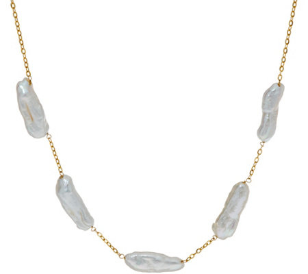 "Honora Liquid Cultured Pearl 18"" Necklace 14K Gold"