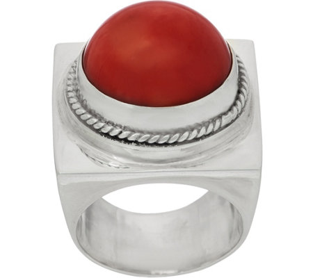 EXEX by Claudia Agudelo Sterling Silver & Gemstone Cabochon Ring