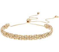 14K Gold Adjustable Byzantine Bracelet, 3.0g - J357171