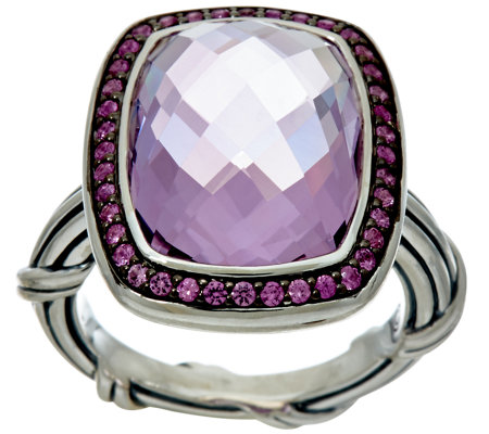 As Is Peter Thomas Roth Sterling 7 70 Ct Gemstone Cocktail Ring