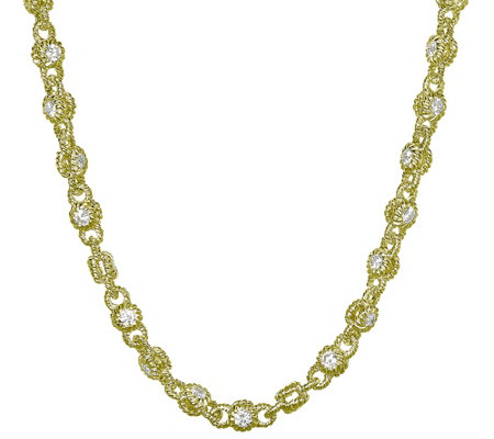 Judith Ripka 14k Clad Diamonique Rolling 20 Necklace