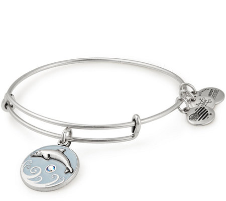 Alex and Ani Dolphin Color Infusion Charm Bangle