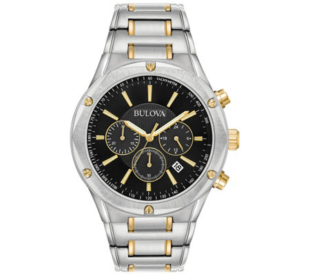 Bulova Men's Two-Tone Stainless Steel Watch