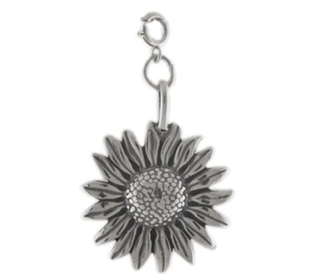 Sterling Sunflower Charm