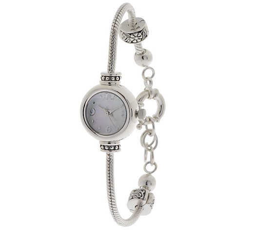 Prerogatives Sterling Bead Bracelet Watch - Adjustable Length