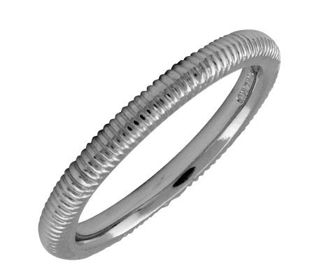 Simply Stacks Sterling Black Rhodium-Plated 2.25mm TextureRing
