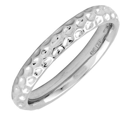 Simply Stacks Sterling Silver Dimpled-Style 3.25mm Ring