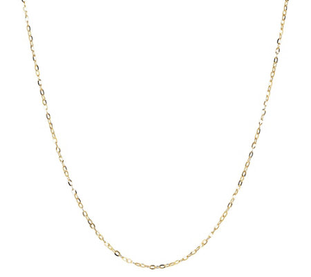 "30"" Fine Hammered Oval Link Chain, 14K Gold"