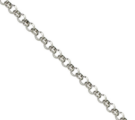 "Stainless Steel 4.6mm 36"" Rolo Chain Necklace"