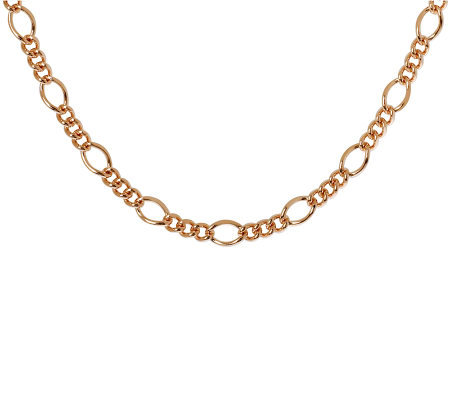 "Bronzo Italia 16"" Fancy Curb Link Necklace"