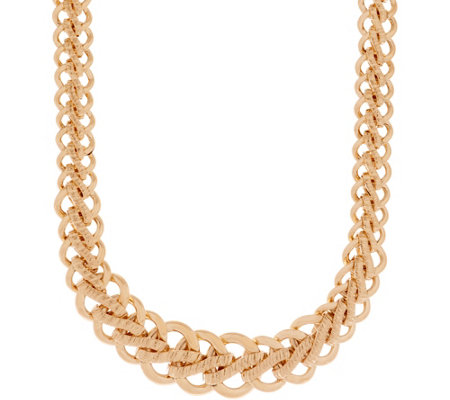 "Italian Gold 20"" Bold Woven Necklace, 14K Gold, 34.4g"