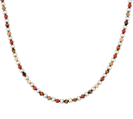 "American West Sterling Silver Gemstone 17"" Bead Necklace"